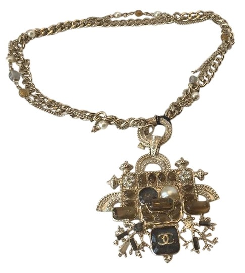 Preload https://img-static.tradesy.com/item/22182376/chanel-gold-cute-little-monsters-choker-wtax-necklace-0-1-540-540.jpg
