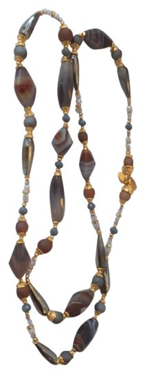 Preload https://img-static.tradesy.com/item/22182415/jose-and-maria-barrera-multicolor-and-gray-pearch-agate-wtax-necklace-0-1-540-540.jpg