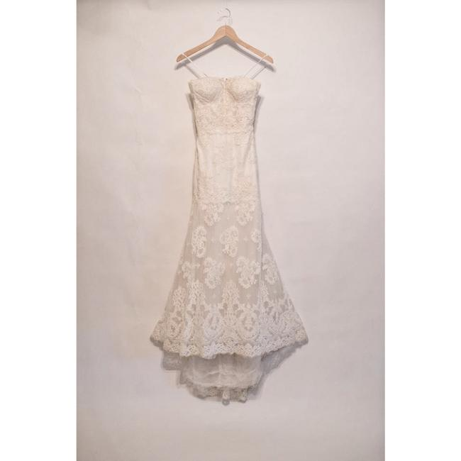 Item - Ivory French Alencon Lace Tulle Arielle Traditional Wedding Dress Size 2 (XS)