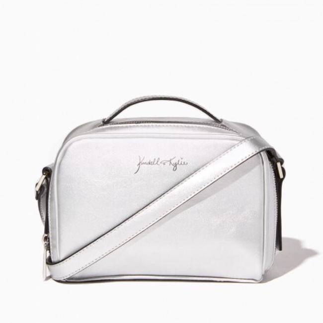 Item - Camera Pose For The Silver Vegan Leather Cross Body Bag