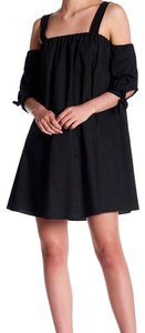 West Kei short dress Black So Comfy Square Neck 3/4 Tie Sleeves Cool Woven Fabric Made In Usa on Tradesy