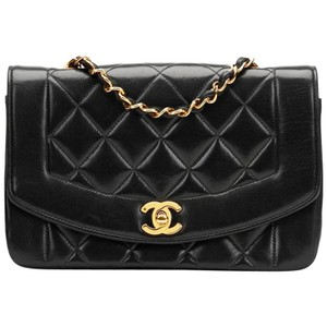Chanel Vintage Lambskin Diana Flap Shoulder Bag
