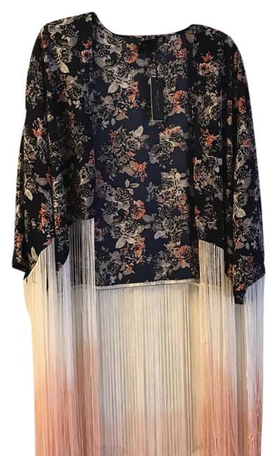 Preload https://img-static.tradesy.com/item/22182949/romeo-and-juliet-couture-navy-fringe-shawl-ponchocape-size-12-l-0-1-650-650.jpg