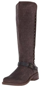 OTBT Studded Leather Riding Buckles Rich Brown Boots