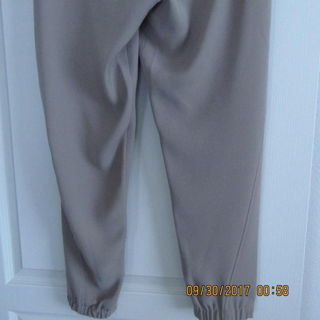 Vince Leather Chic Drapey Neutral Relaxed Pants Beige Image 10