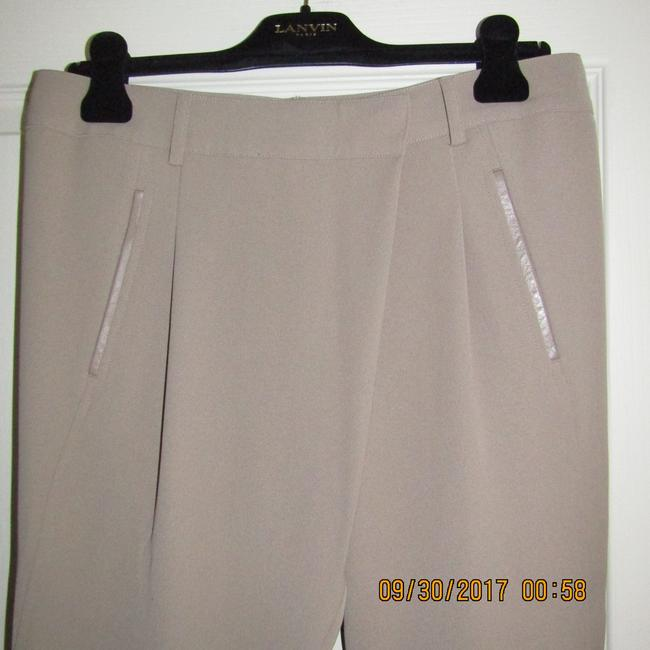 Vince Leather Chic Drapey Neutral Relaxed Pants Beige Image 11