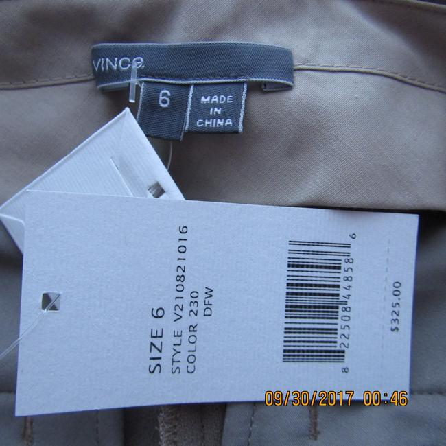 Vince Leather Chic Drapey Neutral Relaxed Pants Beige Image 3