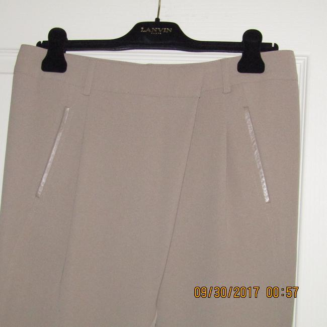 Vince Leather Chic Drapey Neutral Relaxed Pants Beige Image 5