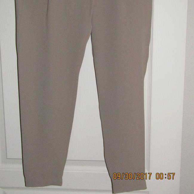 Vince Leather Chic Drapey Neutral Relaxed Pants Beige Image 6