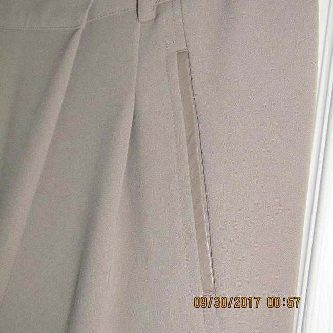 Vince Leather Chic Drapey Neutral Relaxed Pants Beige Image 7