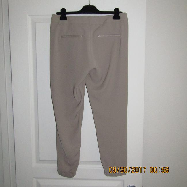 Vince Leather Chic Drapey Neutral Relaxed Pants Beige Image 8