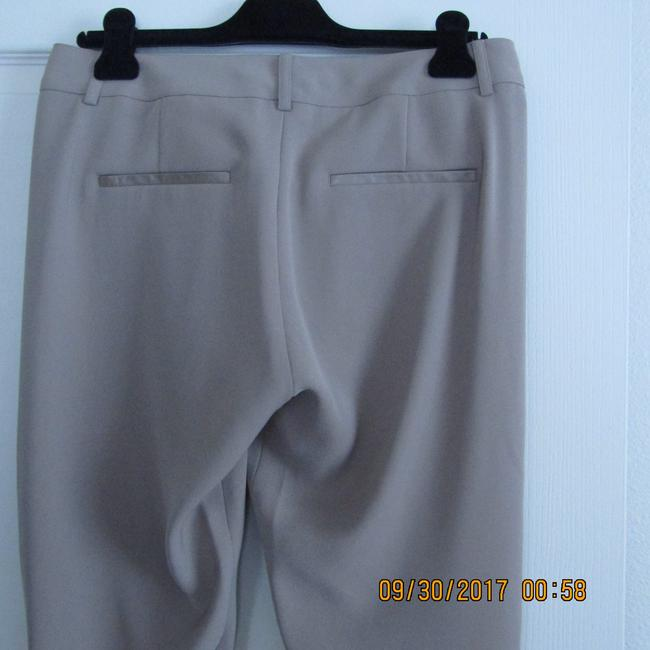Vince Leather Chic Drapey Neutral Relaxed Pants Beige Image 9