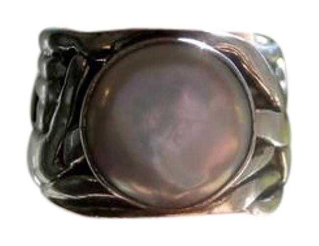 Item - Silver White Sterling with Mother Of Pearl Stone - Simply Stunning Ring