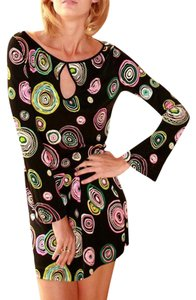 FLORA KUNG Bell Sleeves Jewel Jersey Longsleeve Peekaboo Dress