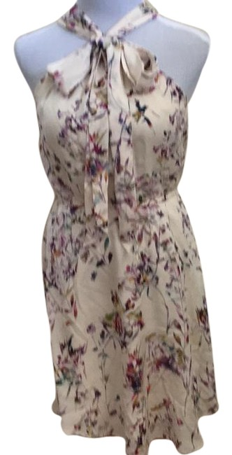 Preload https://img-static.tradesy.com/item/22183494/ali-ro-cream-floral-pussy-bow-daytime-short-workoffice-dress-size-0-xs-0-1-650-650.jpg