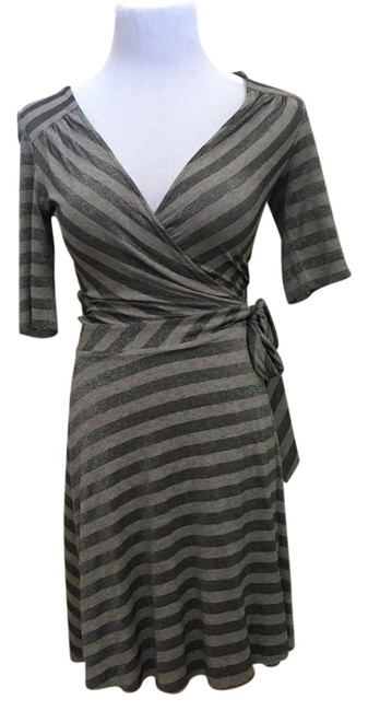 Preload https://img-static.tradesy.com/item/22183643/b44-dressed-grey-metallic-wrap-fit-and-flare-mid-length-workoffice-dress-size-2-xs-0-1-650-650.jpg