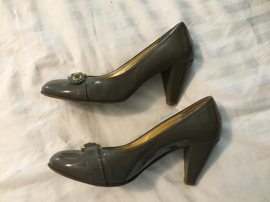 Coach Patent Leather Chunky Heel Classic Pumps Image 1