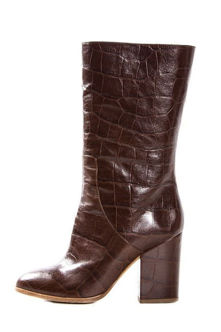 Alexa Wagner Cognac Crocodile Leather Boots/Booties Size EU 38 (Approx. US 8) Regular (M, B) Image 1