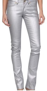 Superfine Straight Leg Jeans-Coated