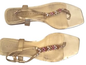 Martinez Valero Gold Sandals