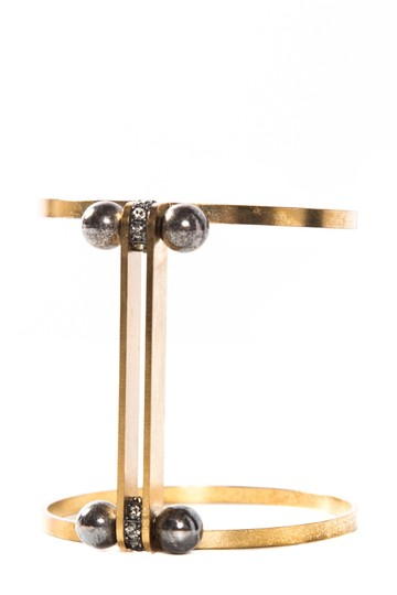 Preload https://item5.tradesy.com/images/lanvin-gold-gold-tone-and-black-pearl-cuff-bracelet-22183909-0-0.jpg?width=440&height=440