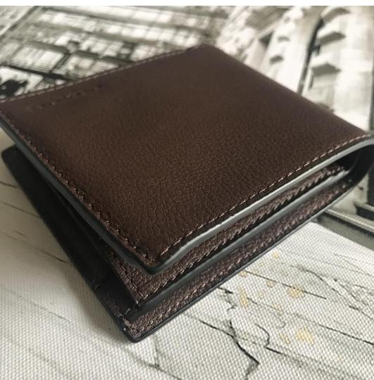 Coach COACH DOUBLE BILLFOLD WALLET IN CALF LEATHER