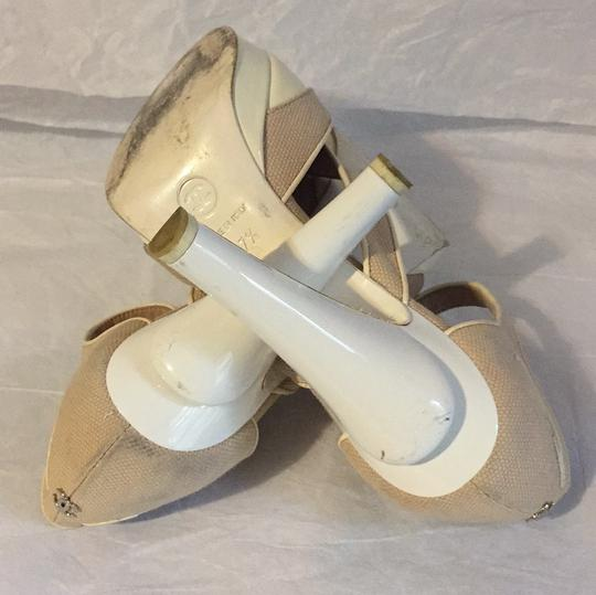 Chanel white/beige Platforms