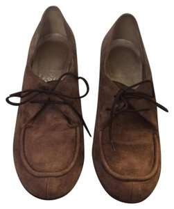 Salvatore Ferragamo Moccasin Laces Brown Pumps - item med img