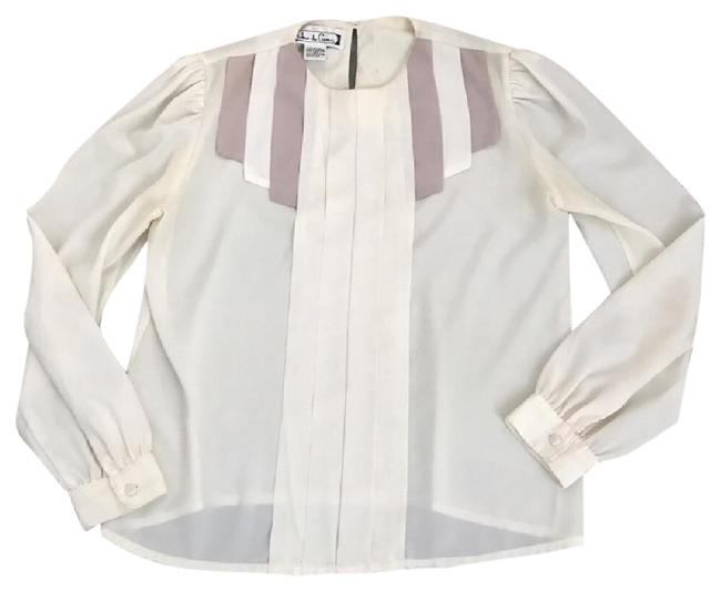 Preload https://item2.tradesy.com/images/cream-rare-vintage-blouse-size-4-s-22184066-0-1.jpg?width=400&height=650