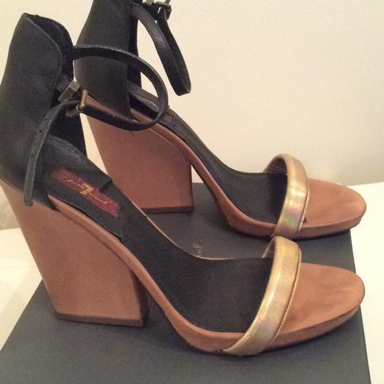 7 For All Mankind Black Wedges