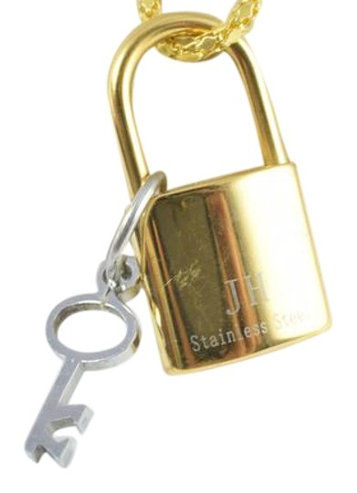 Preload https://img-static.tradesy.com/item/22184124/gold-silver-stainless-steel-lock-and-key-filled-pendant-charm-0-1-540-540.jpg