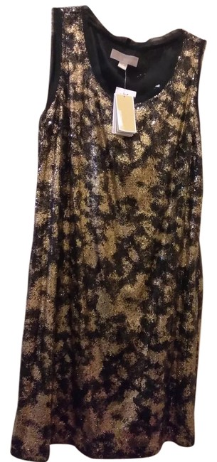 Preload https://img-static.tradesy.com/item/22184144/michael-kors-black-golden-by-shiny-mid-length-night-out-dress-size-14-l-0-1-650-650.jpg