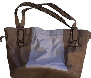 Charming Charlie Tote in Tan / White
