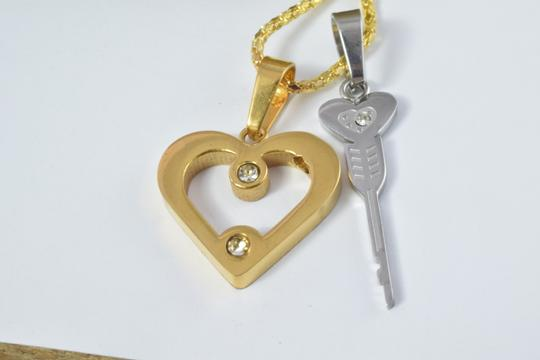 LBDS Through The Heart Key Stainless Steel Pendant