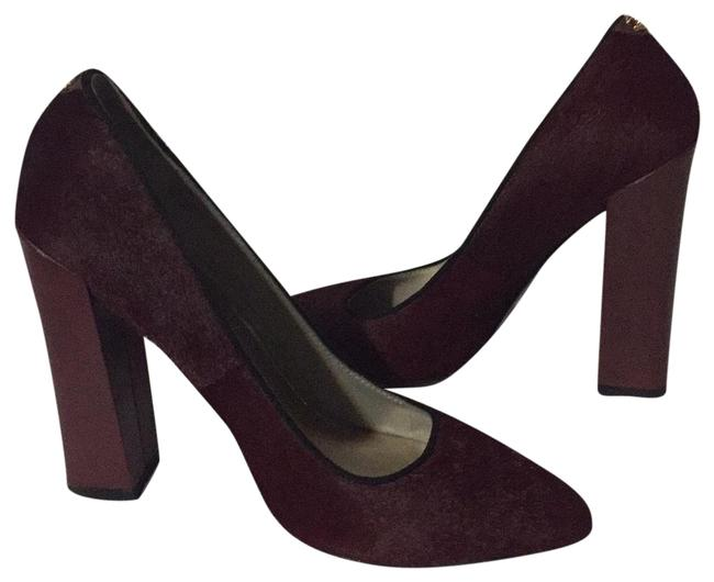Just Cavalli Brown Calf Hear Burgundy Pumps Size US 9 Regular (M, B) Image 1