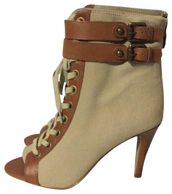 Ash Beige/Brown New Canvas Lace Up Boots/Booties Size EU 38.5 (Approx. US 8.5) Regular (M, B) Ash Beige/Brown New Canvas Lace Up Boots/Booties Size EU 38.5 (Approx. US 8.5) Regular (M, B) Image 1