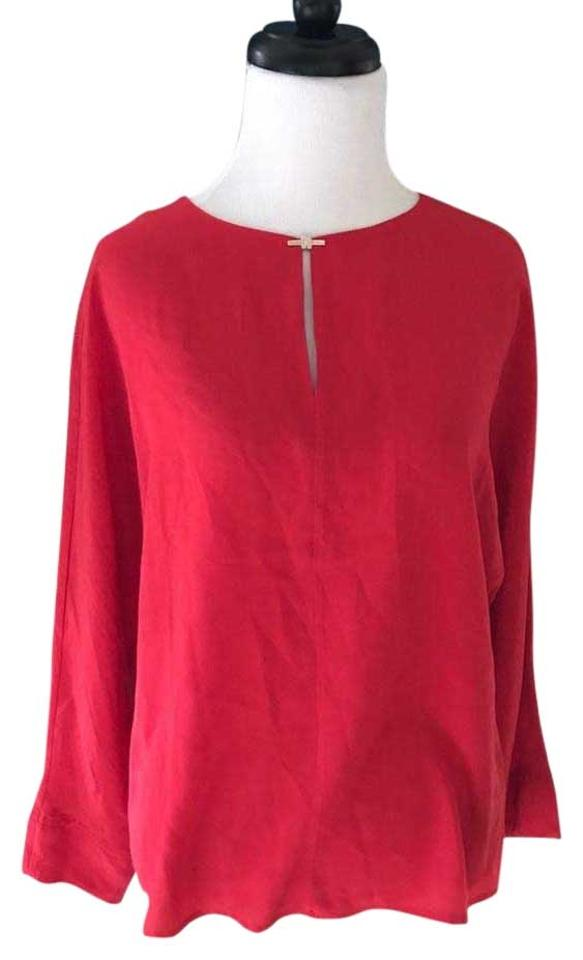 ec463c6d7bb998 Ted Baker Red Silk 3 4 Sleeve Blouse Size 4 (S) - Tradesy