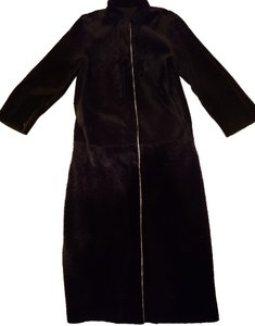 Fendi Suede Shearling Shipskin Fur Coat