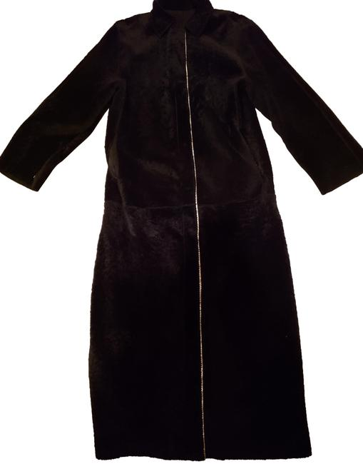 Item - Black Long Suede Shearling /Sheepskin Coat Size 4 (S)