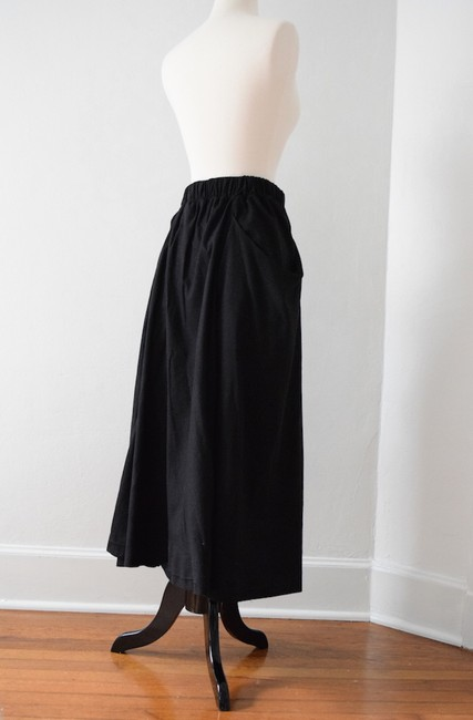 Elizabeth Suzann Made In Usa Elastic Waist Silk Raw Silk Skirt black Image 4