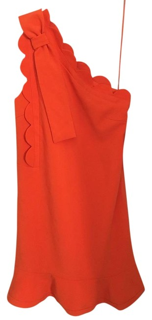 Preload https://item3.tradesy.com/images/victoria-beckham-for-target-orange-scallop-one-shoulder-mid-length-short-casual-dress-size-2-xs-22184487-0-1.jpg?width=400&height=650