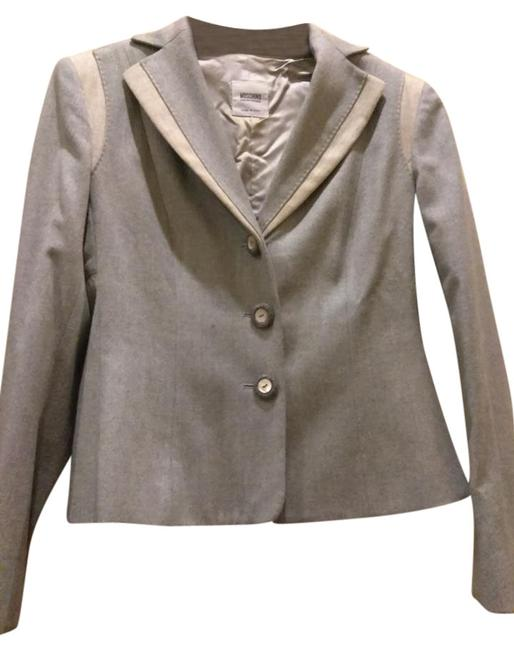Moschino Pale blue beige Jacket Image 0