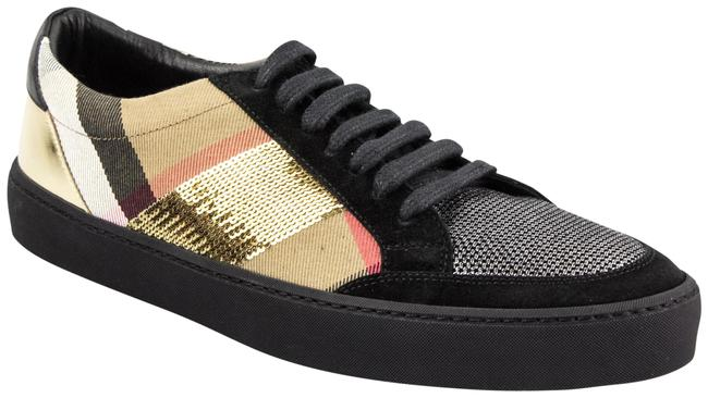 Item - House Check / Gold Salmond Sequined Low-top Sneakers Size EU 40 (Approx. US 10) Regular (M, B)
