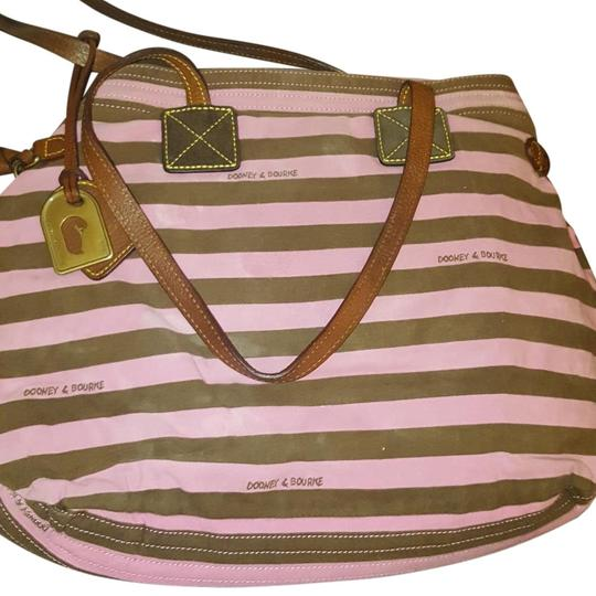 Preload https://item2.tradesy.com/images/dooney-and-bourke-j0514066-pink-and-brown-canvas-tote-22184551-0-2.jpg?width=440&height=440