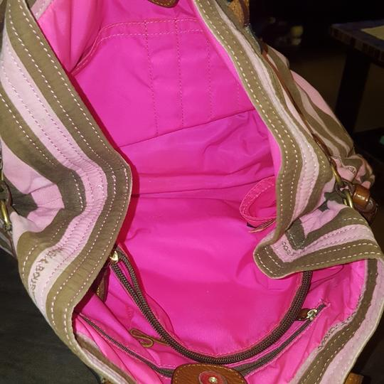 Dooney & Bourke Tote in Pink and brown