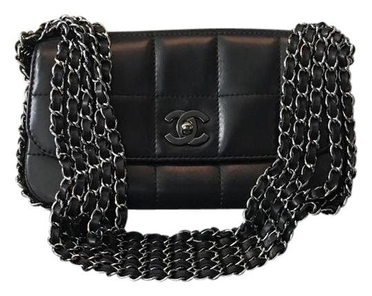 Preload https://item5.tradesy.com/images/chanel-classic-flap-rare-5-chain-quilted-black-leather-shoulder-bag-22184639-0-1.jpg?width=440&height=440