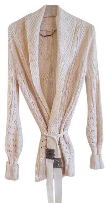 Preload https://item1.tradesy.com/images/elie-tahari-ivory-knit-cardigan-with-velvet-sash-and-decorative-hardware-sweaterpullover-size-6-s-22184640-0-1.jpg?width=400&height=650