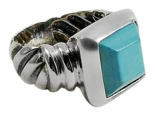 Preload https://img-static.tradesy.com/item/22184650/turquoise-silver-beveled-stone-size-5-ring-0-1-540-540.jpg