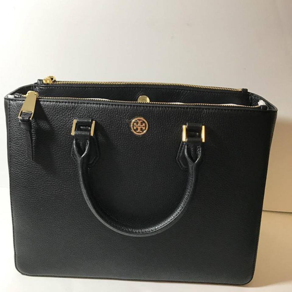 22619f4b6f32 Tory Burch Robinson Large Black Leather Tote - Tradesy