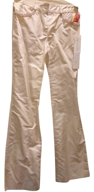 Valentino Boot Cut Pants Cream